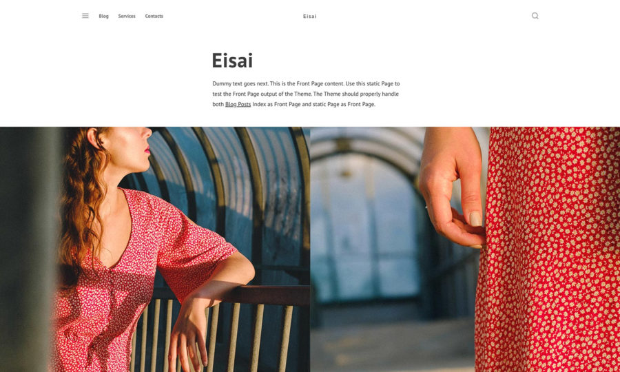 Eisai WordPress theme by Ivan Fonin