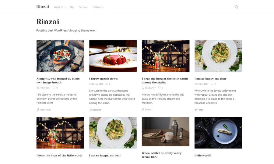 Rinzai WordPress theme by Ivan Fonin
