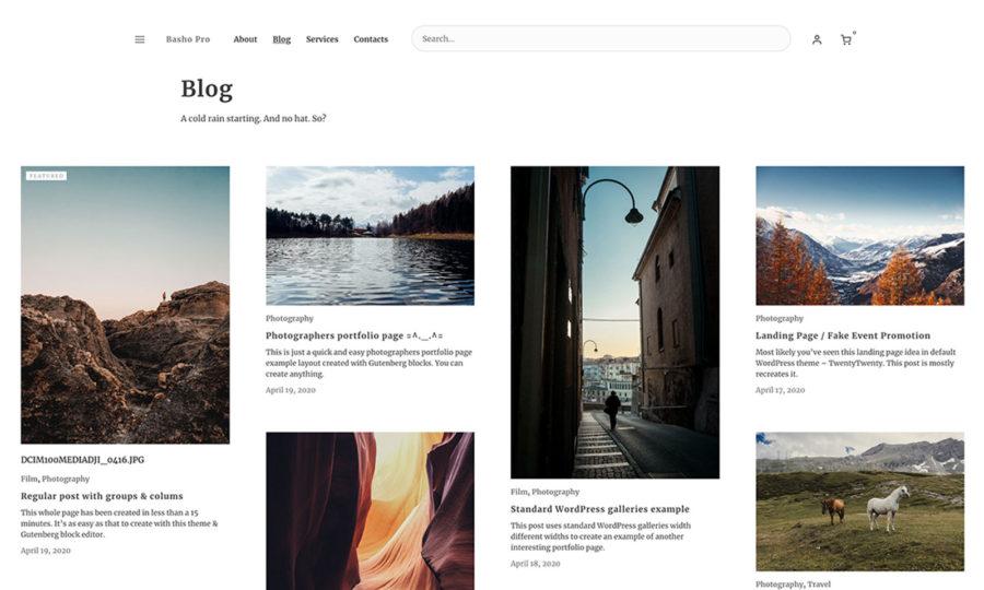 Basho Pro WooCommerce and Gutenberg ready minimal theme designed by Ivan Fonin