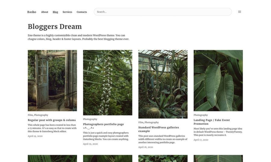 Basho WordPress theme designed by Ivan Fonin